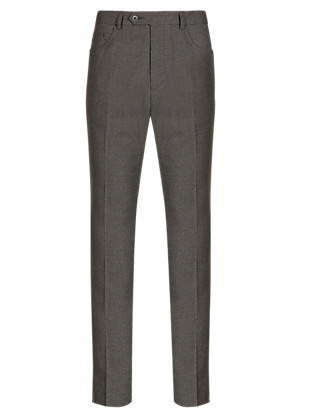 Slim Fit 5 Pocket Smart Trousers with Buttonsafe™ Clothing