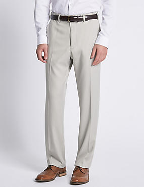 Soft Touch Flat Front Trousers