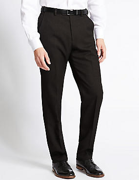Flat Front Crease Resistant Trousers