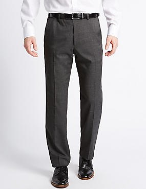 Tailored Fit Textured Trousers