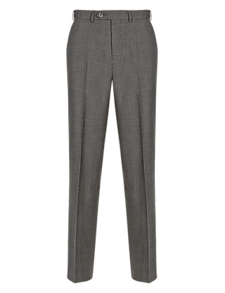 Supercrease™ Active Waistband Prince of Wales Checked Trousers with Wool Clothing