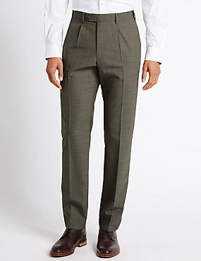Supercrease™ Single Pleated Trousers with Wool