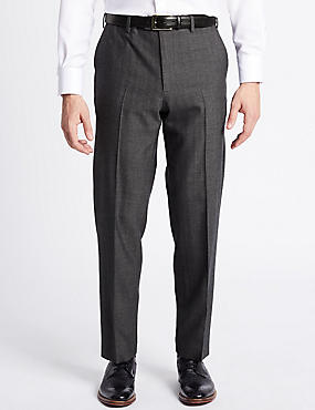Big & Tall Wool Rich Single Pleated Trousers