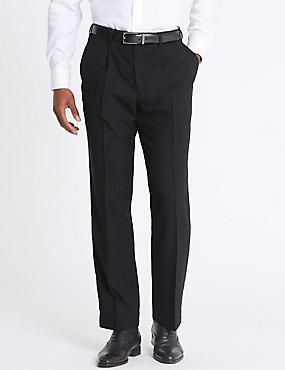 Tailored Wool Rich Single Pleated Trousers