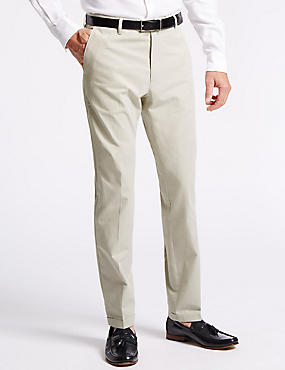 Pure Cotton Tailored Fit Chinos