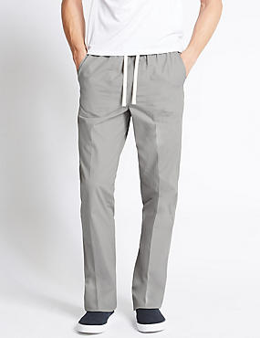 Regular Fit Pure Cotton Trousers