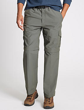 Regular Fit Trekking Trousers with Belt