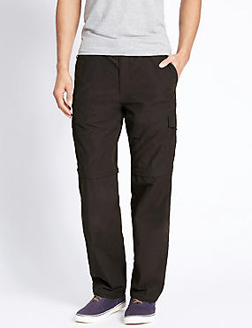 Big & Tall Regular Fit Trousers with Belt