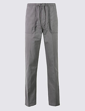 Regular Fit Pure Cotton Chinos, MID GREY, catlanding