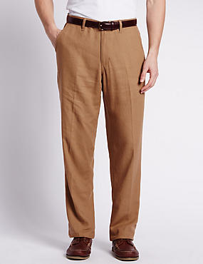Regular Fit Linen Blend Chinos