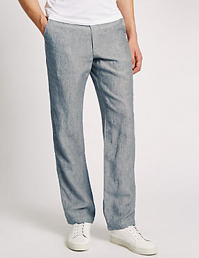 Tailored Fit Pure Linen Chinos