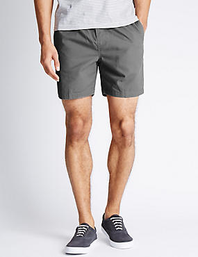 Pure Cotton Elastic Waist Shorts