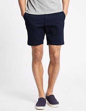 Pure Cotton Shorts, NAVY, catlanding