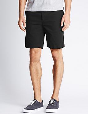 Pure Cotton Shorts, BLACK, catlanding