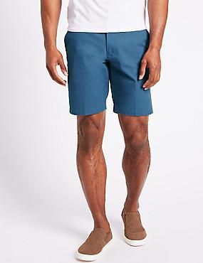 Big & Tall Pure Cotton Chino Shorts, MEDIUM BLUE, catlanding