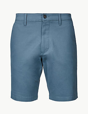 Cotton Rich Chino Shorts, FRESH BLUE, catlanding