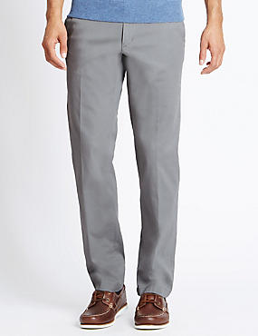 Cotton Rich Stretch Chinos with Buttonsafe™