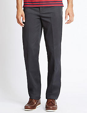 Big & Tall Straight Cotton Rich Trousers