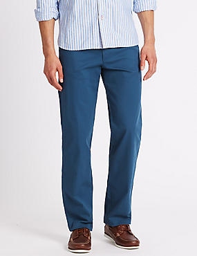 Regular Fit Cotton Rich Trousers