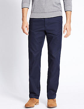 Big & Tall Regular Fit Cotton Rich Chinos