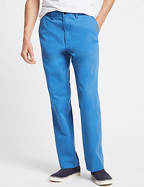 Super Lightweight Regular Fit Chinos, COBALT, catlanding