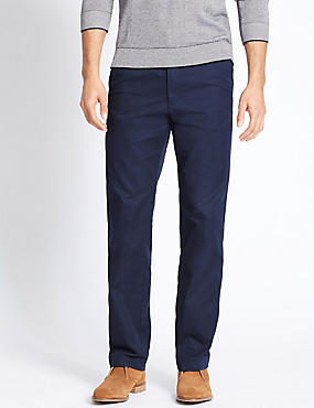Super Lightweight Regular Fit Chinos, NAVY, catlanding