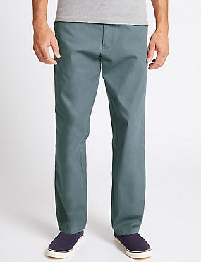 Super Lightweight Regular Fit Chinos, MID BLUE, catlanding