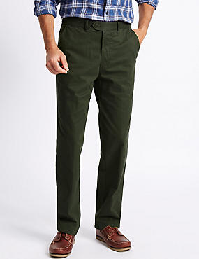 Cotton Rich Chinos, GREEN, catlanding