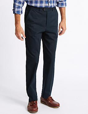 Big & Tall Cotton Rich Chinos, NAVY, catlanding