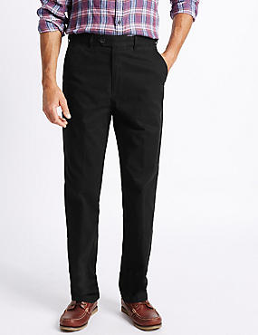 Big & Tall Cotton Rich Chinos, BLACK, catlanding