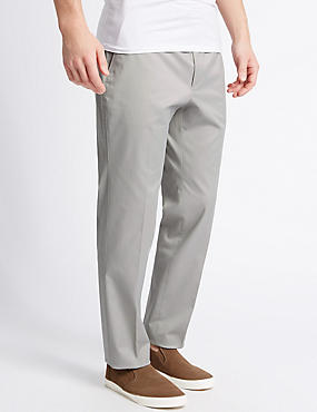Pure Cotton Slim Fit Chinos with Stretch