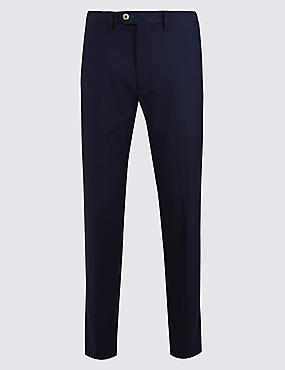 Slim Fit Flat Front Chinos, NAVY, catlanding