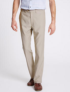 Slim Fit Flat Front Chinos