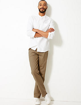 Pure Cotton Flat Front Chinos