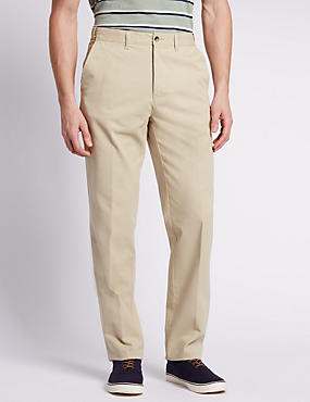 Pure Cotton Chinos with Active Waist