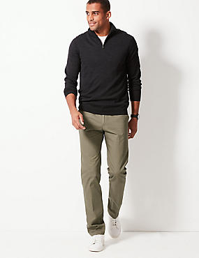Straight Fit Pure Cotton Chinos, MOLE, catlanding