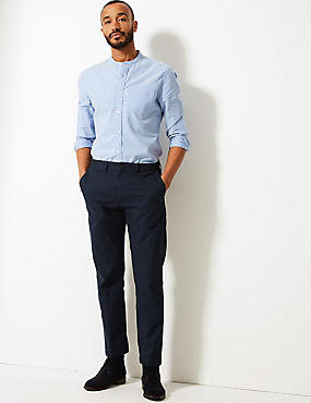 Straight Fit Pure Cotton Chinos, NAVY, catlanding