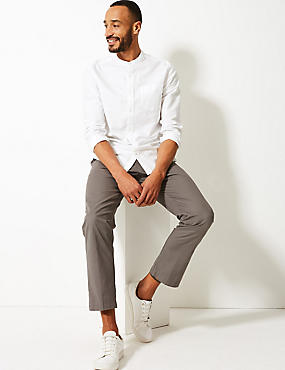 Straight Fit Pure Cotton Chinos, MEDIUM GREY, catlanding