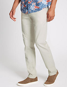Slim Fit Pure Cotton Chinos  , , catlanding
