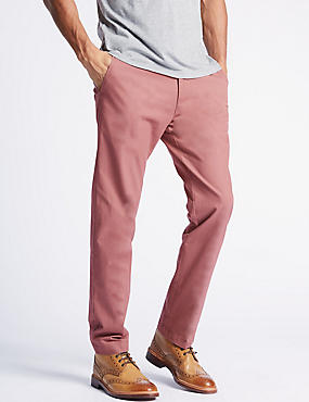 Big & Tall Straight Fit Pure Cotton Chinos, DUSKY PINK, catlanding