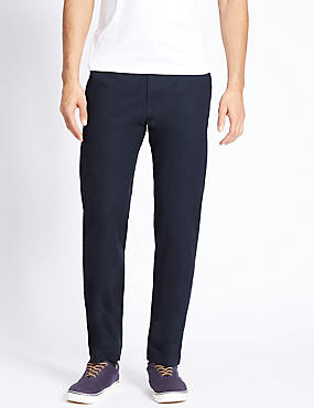 Big & Tall Straight Fit Pure Cotton Chinos, NAVY, catlanding