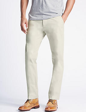 Big & Tall Straight Fit Pure Cotton Chinos, ECRU, catlanding