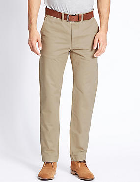 Straight Fit Chinos with Belt