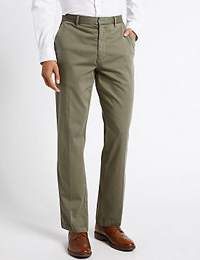 Cotton Rich Flat Front Chinos