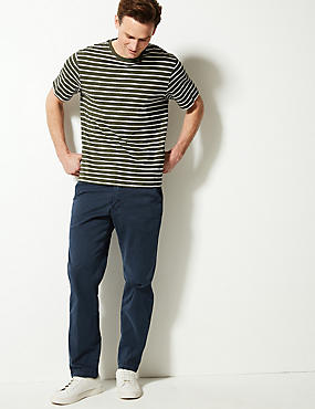 Slim Fit Cotton Rich Authentic Chinos, NAVY, catlanding