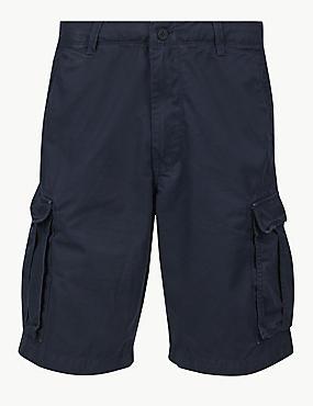 Pure Cotton Authentic Cargo Shorts, DARK NAVY, catlanding