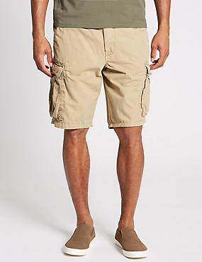 Pure Cotton Authentic Cargo Shorts, DARK STONE, catlanding