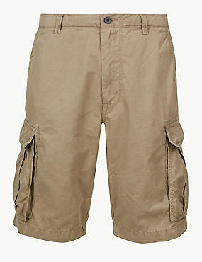 Pure Cotton Authentic Cargo Shorts, STONE, catlanding