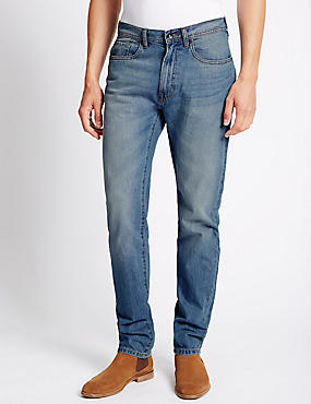 Tapered Fit Pure Cotton Jeans