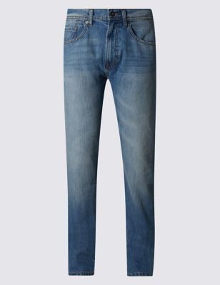 Light Blue Tapered Fit Pure Cotton Jeans Outfit